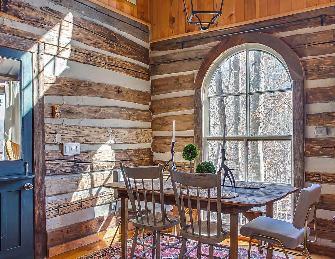 whites centerhill lake cabins dining room