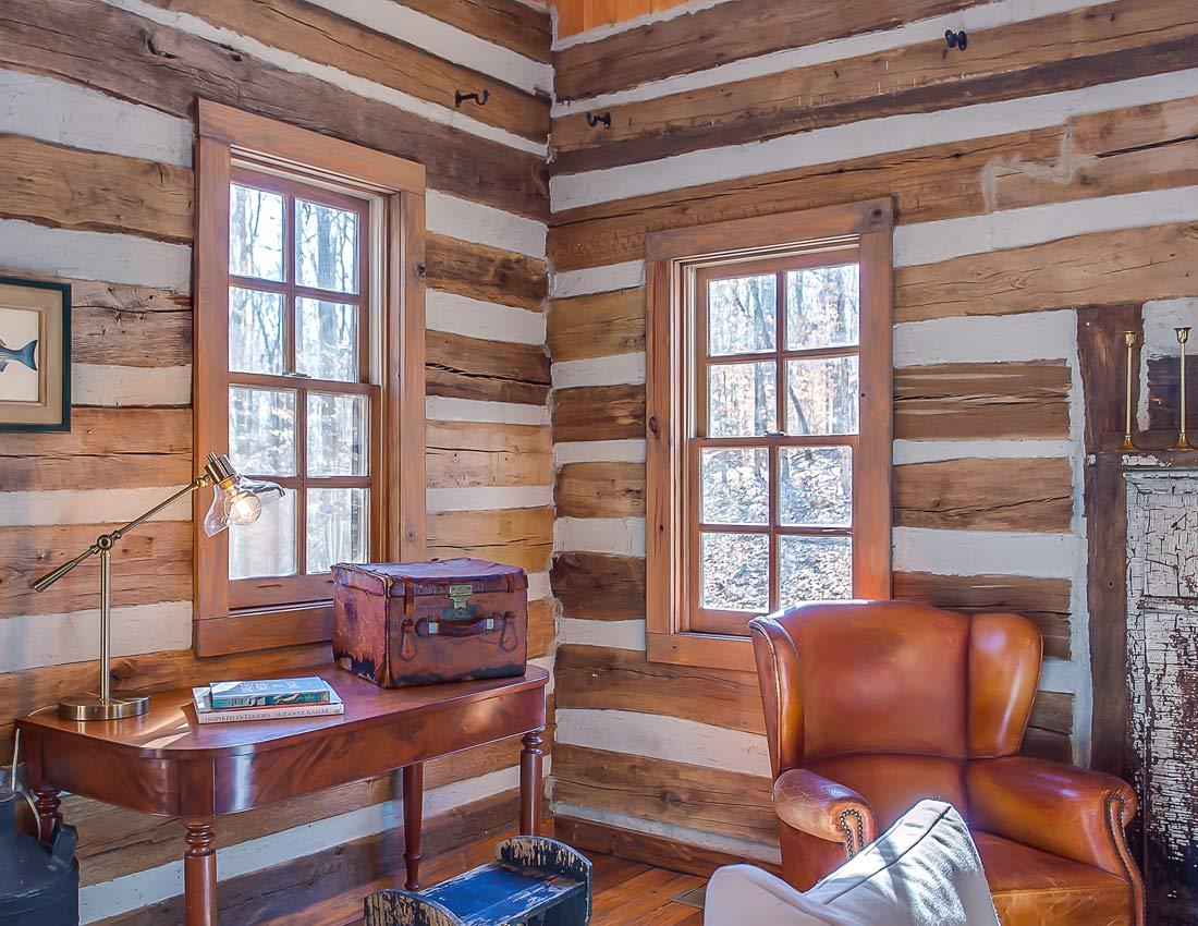 whites centerhill lake cabins living room