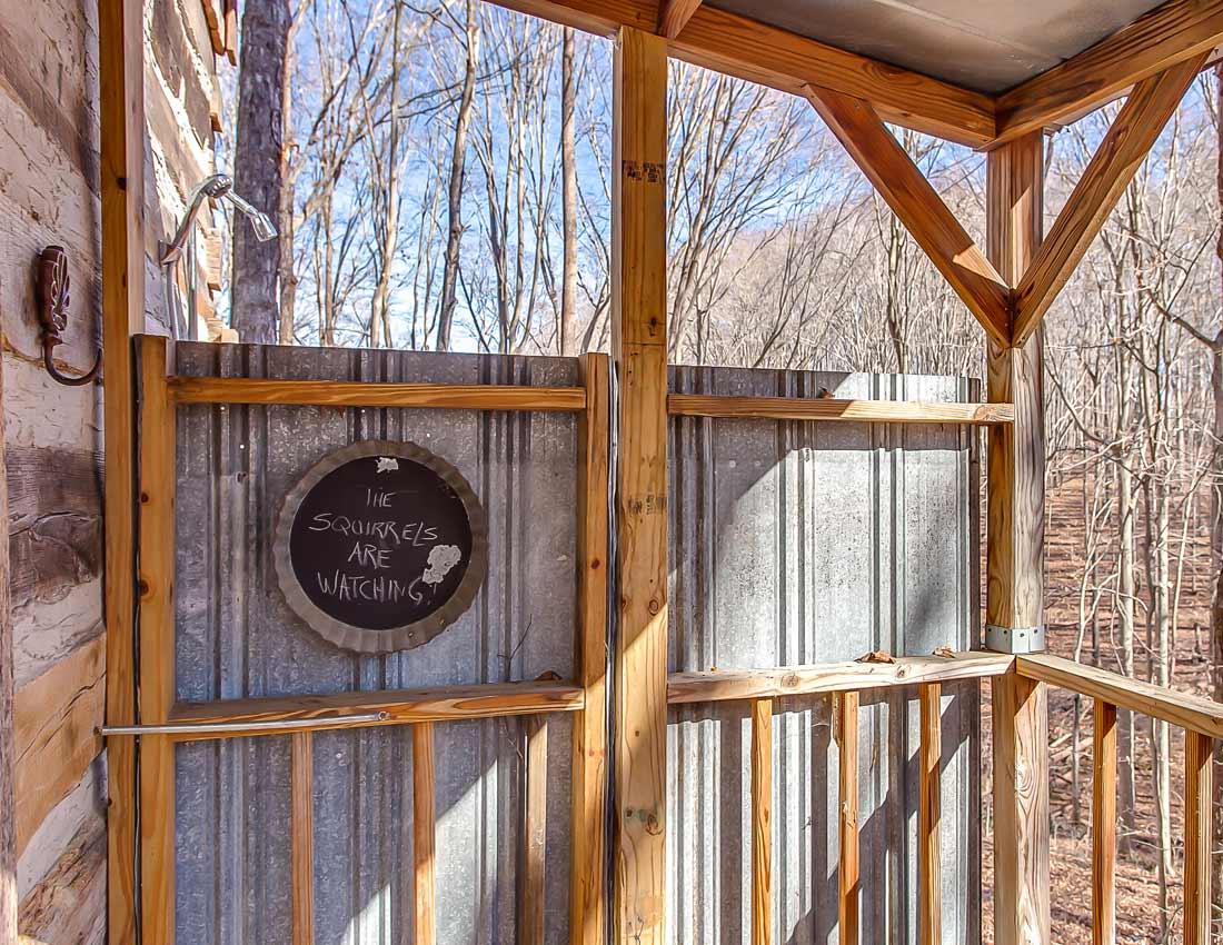 whites centerhill lake cabins outdoor shower