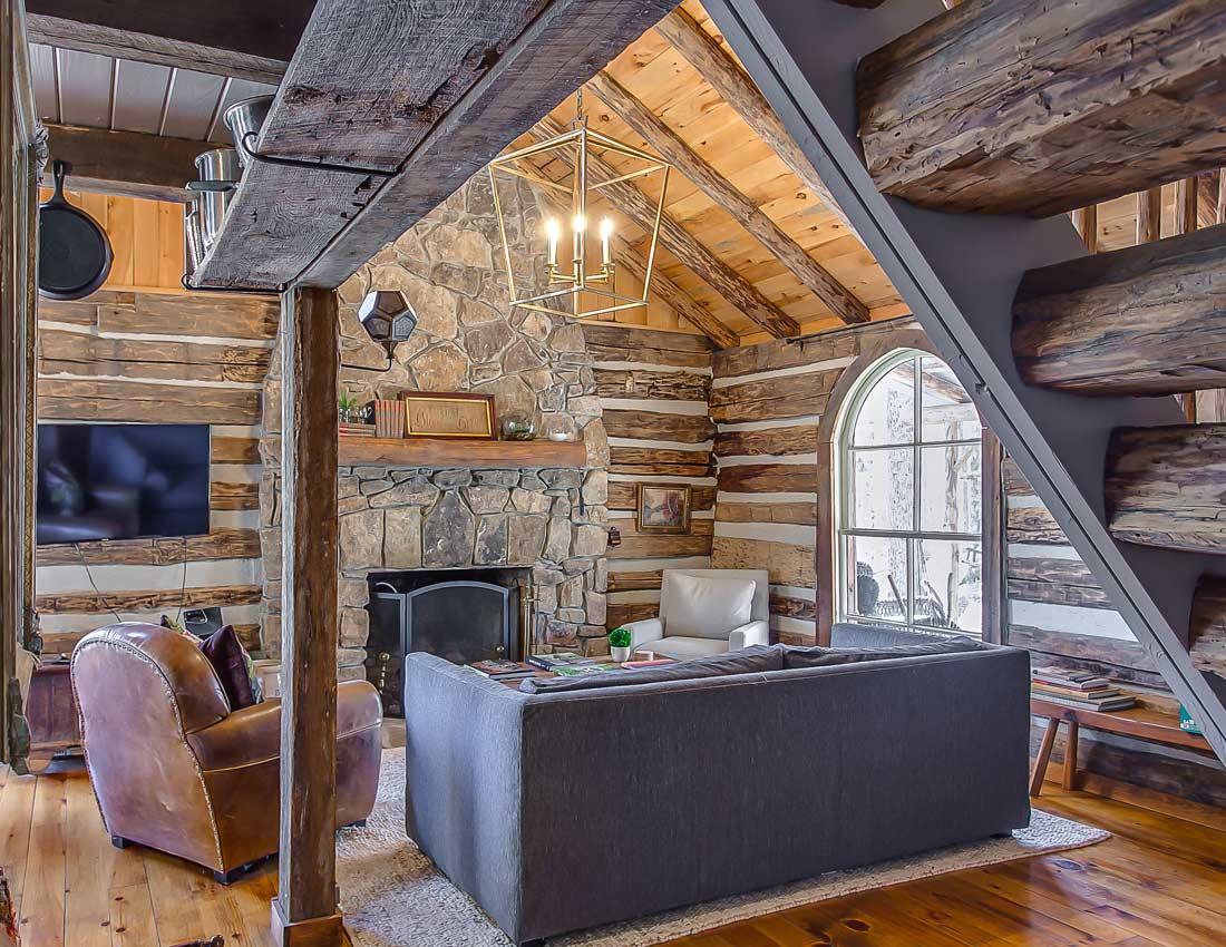 whites centerhill lake cabin living room