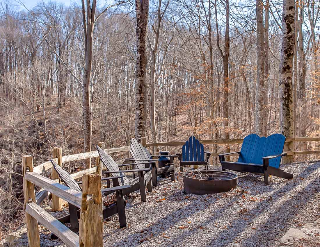 whites centerhill lake cabins fire pit