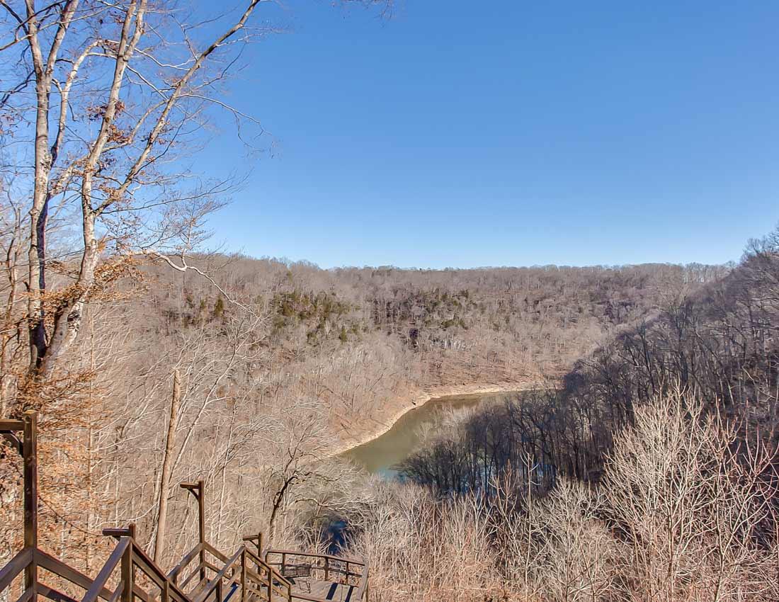 whites centerhill lake cabins view